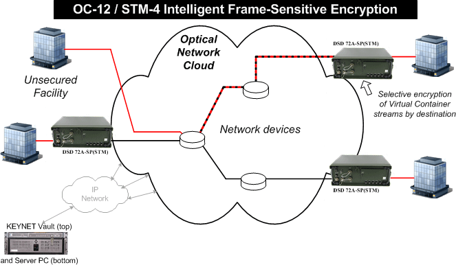 DSD 72B-SP frame-sensitive SONET/SDH encryption